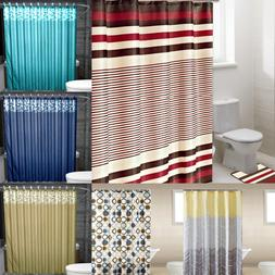 13PC SET CHIC BATHROOM BATH PRINTED FABRIC SHOWER CURTAIN 70
