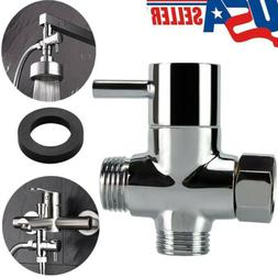 3-Way T-adapter Adjustable Bath Shower Head Arm Mounted Dive