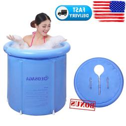 "30"" Bathtub Water Tub Adult Spa Bath Bucket Folding Indoor O"