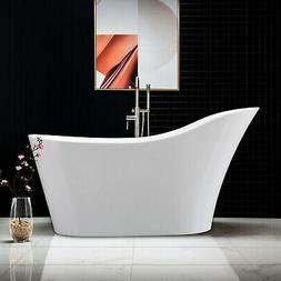 Woodbridge 59''  Freestanding Bathtub B-0029 with Chrome ove