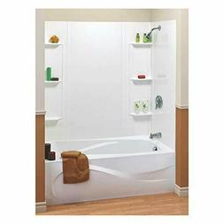 Universal Bathtub Wall Kit Tub 5Pc White Shower Bathroom 6 S