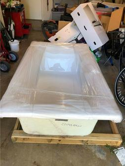 """6 ft. White Drop-in Bathtub NEW ON PALLET acrylic 71.75""""L x"""