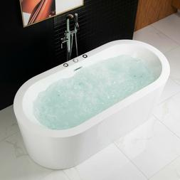 """WOODBRIDGE 67"""" x 32"""" Whirlpool Water Jetted and Air Bubble F"""