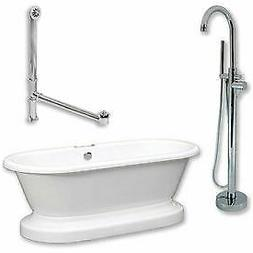 Cambridge Plumbing ADEP-150-PKG-CP-NH Bathtub Set W/Acrylic