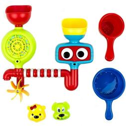 Baby Bath Toys- Fill, Flow, Spin Bath Kids Toys Set - Waterf