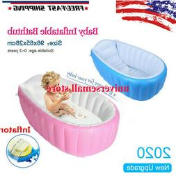 Baby Infant Inflatable Bath Tub Seat Mommy Helper Kid/Toddle