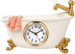 Bathtub Clock - Bathroom Decor Vintage Claw Foot Bath