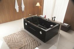 Black 2 Person Indoor Whirlpool Hot Tub SPA Hydrotherapy Mas