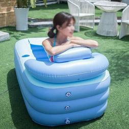Blowup Adult Spa PVC Folding Portable Bathtub Warm Inflatabl