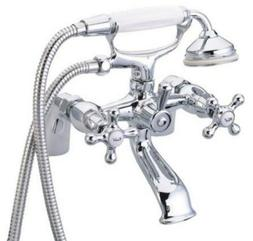 Deck Mount Clawfoot Tub Filler with Hand Shower