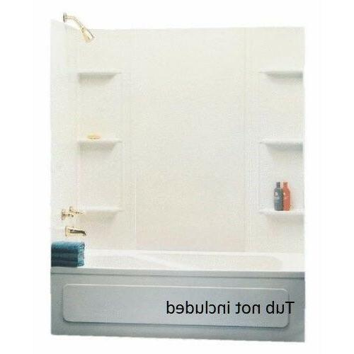 Universal Bathtub Wall Kit Tub White Bathroom 6
