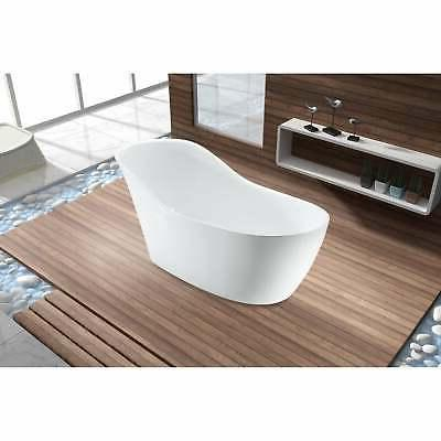 "67"" Streamline Freestanding Tub and White"
