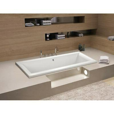 67 x 28 inches Drop-in Acrylic Bathtub - Center - White Whit