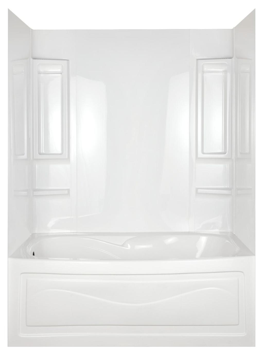 Bathtub Shower Tub Wall Surround 6 Shelves 2 Towel Bars 5 Pi