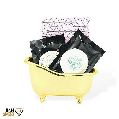 Gold Bathtub Bathroom Accessories As Makeup Holder, Soap Hold...