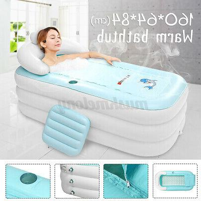 Inflatable Swimming Pool Portable Adult Spa Bathtub Warm Hea