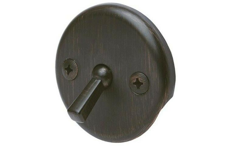 Oil Rubbed Bath Overflow Plate