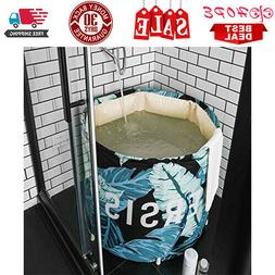 Portable Foldable Bathtub, Free Standing Soaking Bath Tub Pl