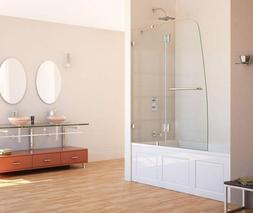 "Dreamline Shower Door, 48""W x 58""H Aqua Lux Bathtub Door Cle"