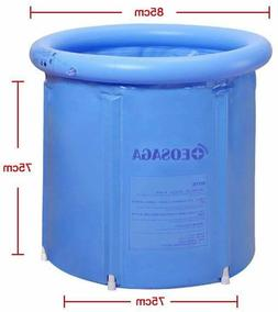 US Folding Bathtub Portable PVC Foldable Water Place Tub Roo