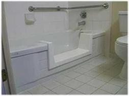 Walk-In Bath To Shower Easy Step Thru Insert DIY Conversion