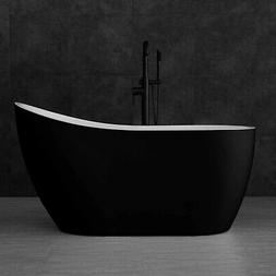 "Woodbridge 54"" Modern Acrylic Freestanding Bathtub, with Bru"