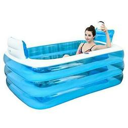 XL Blue Color Inflatable Bathtub Plastic Portable Foldable B